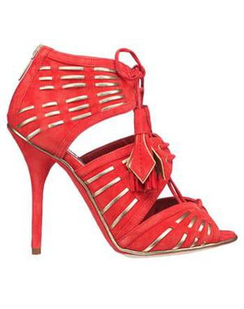 Sandales velours et agneau de Dior
