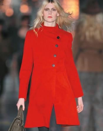 Manteau rouge de comptoir des cotonniers test et avis - Manteau rouge comptoir des cotonniers ...
