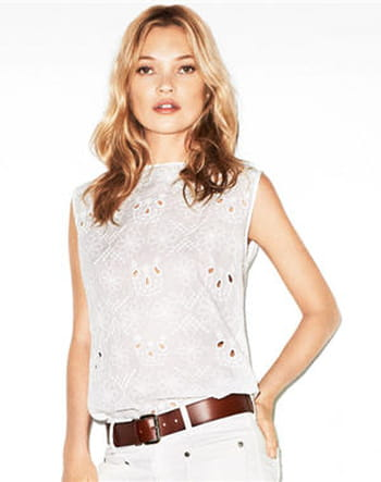 Top broderie de Mango