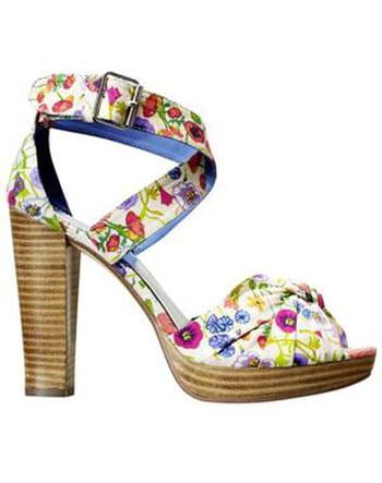 Chaussures à fleurs de H&M