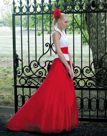"Robe ""Noce de coquelicot"" collection Ceremonia de Pronuptia"