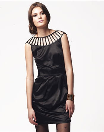 Robe noire en satin de Lipsy