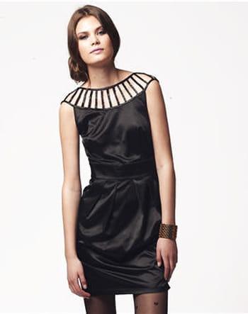 Robe noire en satin de Lipsy