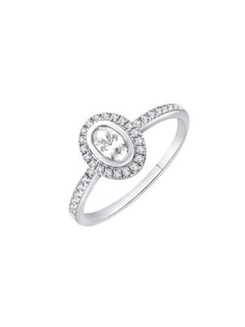 Bague diamant ovale de Zeina Alliances