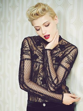 blouse dentelle noire des 3 suisses test et avis sur journal du net journal du net. Black Bedroom Furniture Sets. Home Design Ideas