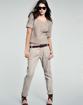 pantalon chino femme beige mode et fashion. Black Bedroom Furniture Sets. Home Design Ideas